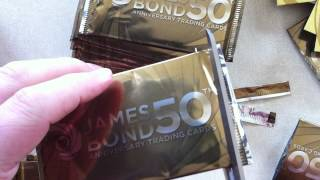 Opening a Box of James Bond 50th Anniversary cards - Part 1