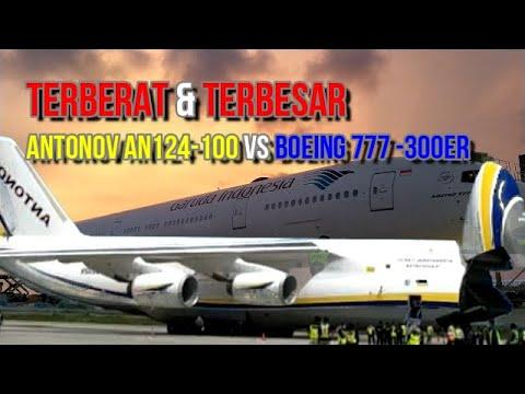 Antonov AN124 100 Vs Boeing 777 300ER Di Bandara YIA Jogja