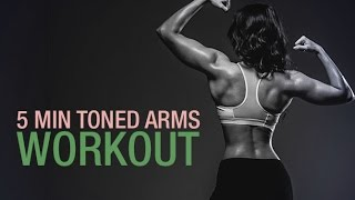 5 Minute Toned Arms Workout (BICEPS, TRICEPS & SHOULDERS!!)