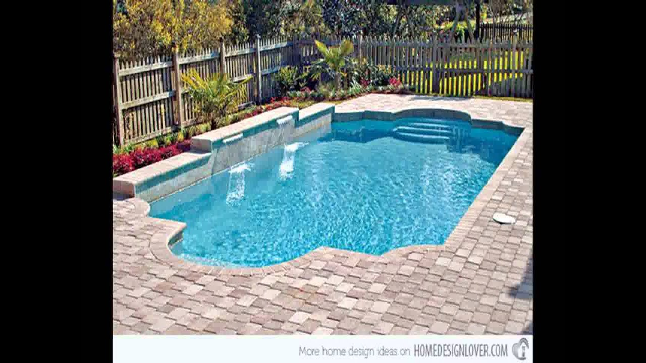Cheap pool fencing ideas youtube for Pool tile designs
