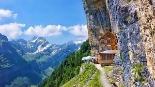 N•46 SUÍÇA, UM RESTAURANTE ONDE VOCÊ NUNCA IMAGINAVA! (Berggasthaus Aescher-Wildkirchli) (Alex Luba)