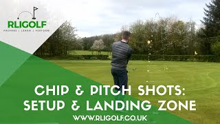 Chip short and pitch shot: Setup and landing zone