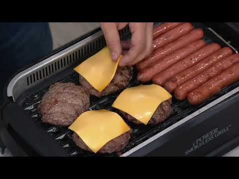 power-smokeless-indoor-electric-1500w-grill-w/-griddle-plate-on-qvc