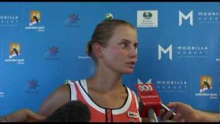Jelena Dokic's first round press conference