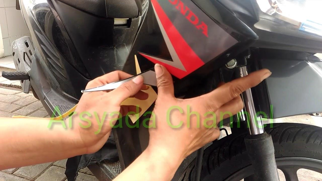 Cara mudah pasang striping motor