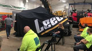 Video still for Stephenson Equipment Unveils LeeBoy's Raised on Blacktop Paver