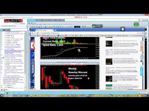 Trading. SGX Day Traders ---Rowsley and Its Warrant Live Trading Video