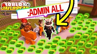 Roblox Jailbreak GIVING ADMIN AS ASIMO3089 POUR CASH! «PRANK!