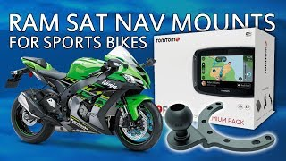 RAM Mount GPS, Sat Nav or TomTom on Sports Bikes ZX10R on the tank