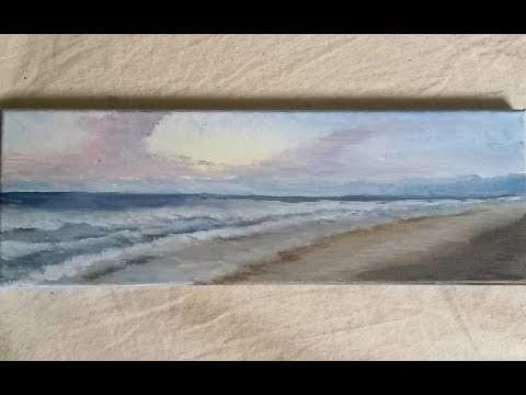 Beach Sunrise – Acrylic Painting – How to Paint Instructional Lesson
