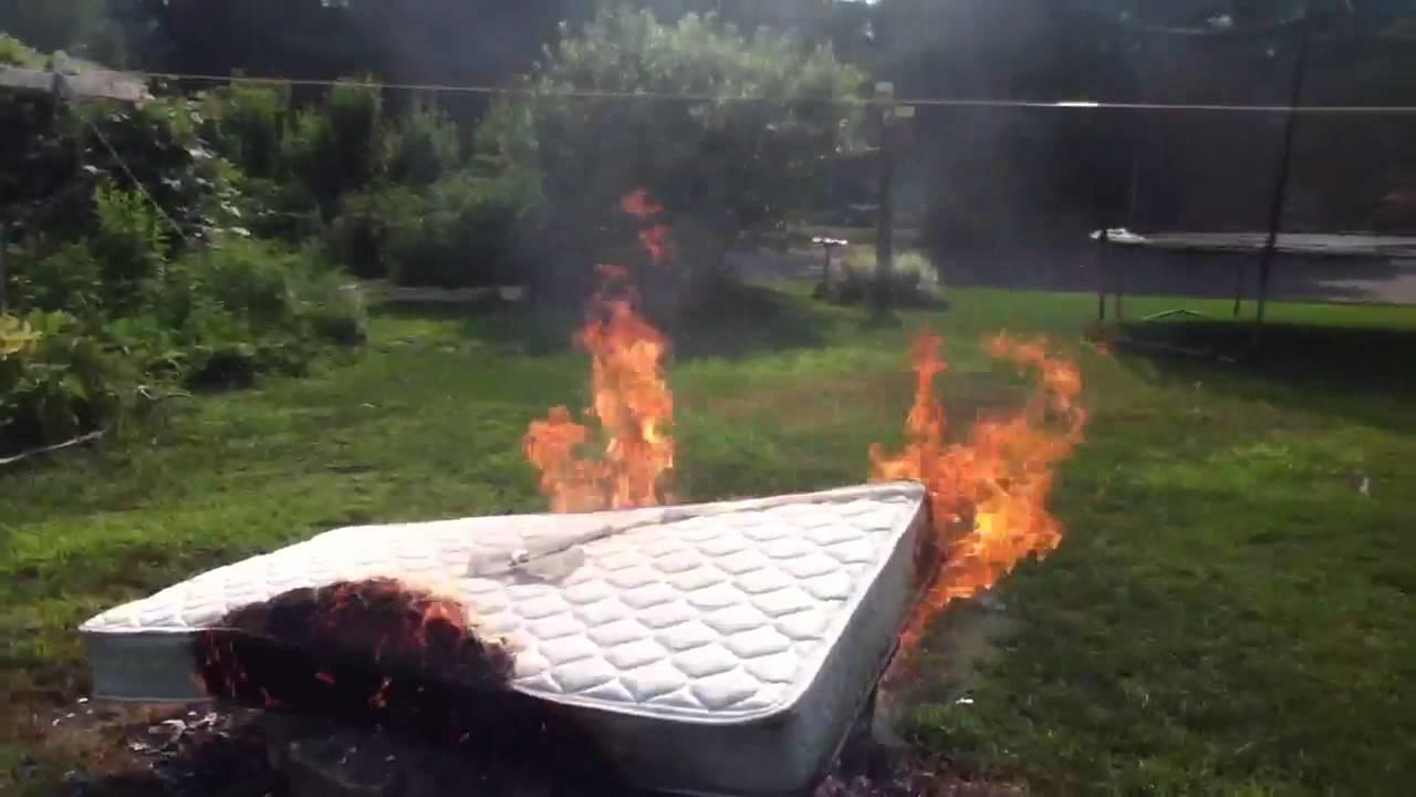 Burning A Mattress