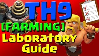Clash of Clans: [FARMING] TH9 Laboratory Research Guide (September 2016) ULTIMATE!!!
