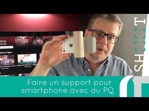 Fabriquer un support smartphone avec du PQ   comment faire des vidéos