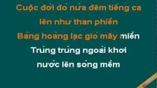 Dau Chan Dia Dang Karaoke - Khánh Ly - CaoCuongPro