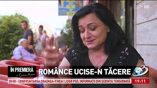 In premiera. Romance ucise-n tacere