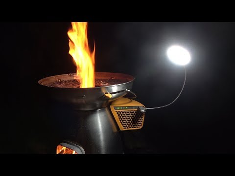 Biolite Basecamp In-Depth Review. Power, heat, cooking and light all in one stove.