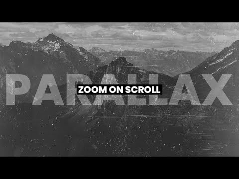 Parallax Effect | Zoom On Scroll JQuery | HTML, CSS & JAVASCRIPT