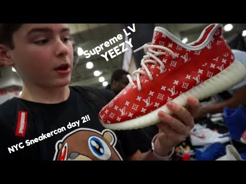 RARE* SUPREME LOUIS VUITTON YEEZYS!!! (SNEAKERCON DAY 2) - YouTube