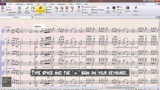 How to add Tempo and Metronome Markings in Sibelius 7