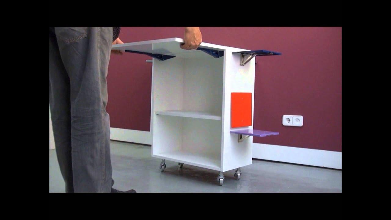 M2 escuadras abatibles horizontales youtube - Muebles con tabla de planchar ...