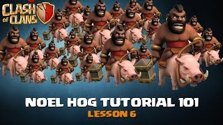 Clash Of Clans: Hog Tutorial Lesson 6 - How to 3 Star a TH10 (Using Golem to take out AQ)