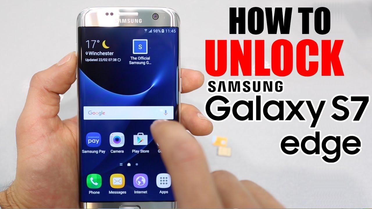 How to unlock Samsung Galaxy S7 EDGE Free