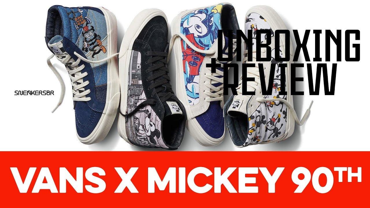 Disney x VANS UA OLD SKOOL 80's Mickey Mouse 90th #vans