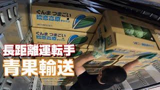 【長距離トラック運転手】九州へ走れ!青果物輸送の仕事。嬬恋の積込みを公開。