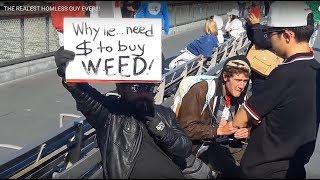 HOMELESS GUY WANTS WEED!!!