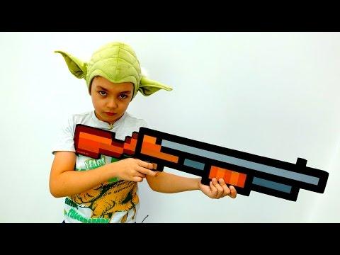 Видео Майнкрафт: обзор Звезды Смерти! Игрушки Майнкрафт и Star Wars. Игры для мальчиков