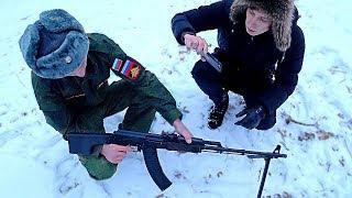 Нашли Пулемет На Военной Территории. Проникли На Базу К Военным