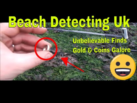 Beach Detecting for treasure I find jesus over 250 coins & 18ct gold rings & silver 2018