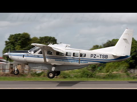 Adventure in Suriname episode 20 flying to the jungle with Bluewings Cessna 208 / 900 HP