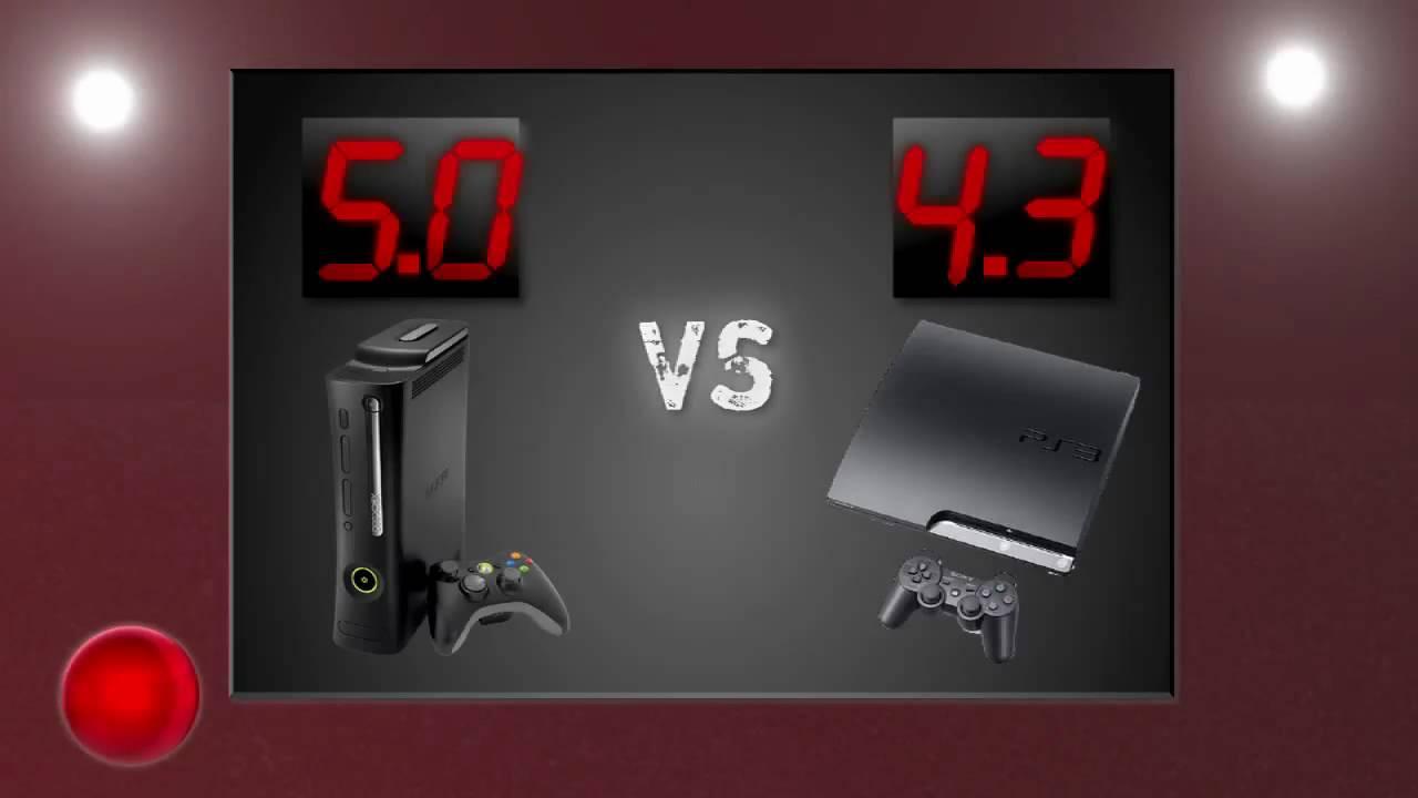 Xbox 360 Elite Vs Ps3 Slim Youtube