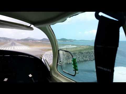 Landing St John Virgin Island Airport in a Piper