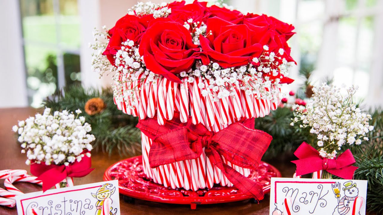 Cristina Ferrare's DIY Candy Cane Vase