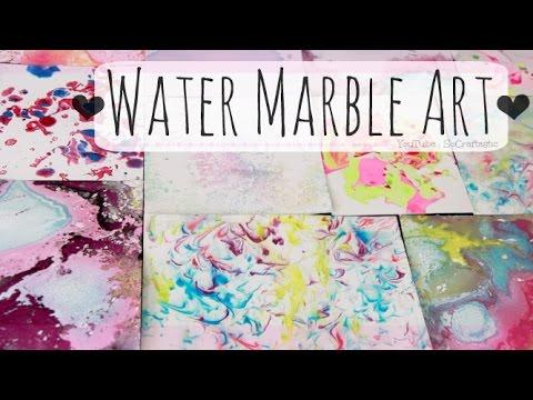 DIY Water Marble Art | SoCraftastic