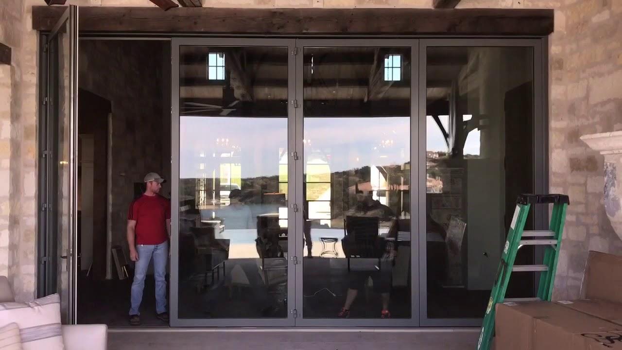 Weiland Bi Folding Sliding Glass Door Youtube