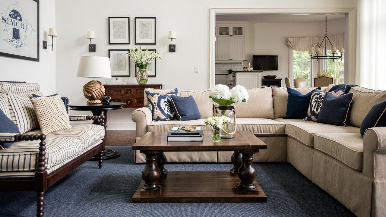 Interior Design — Luxury Coastal Lake House Cottage - YouTube on House Interior Ideas  id=39870