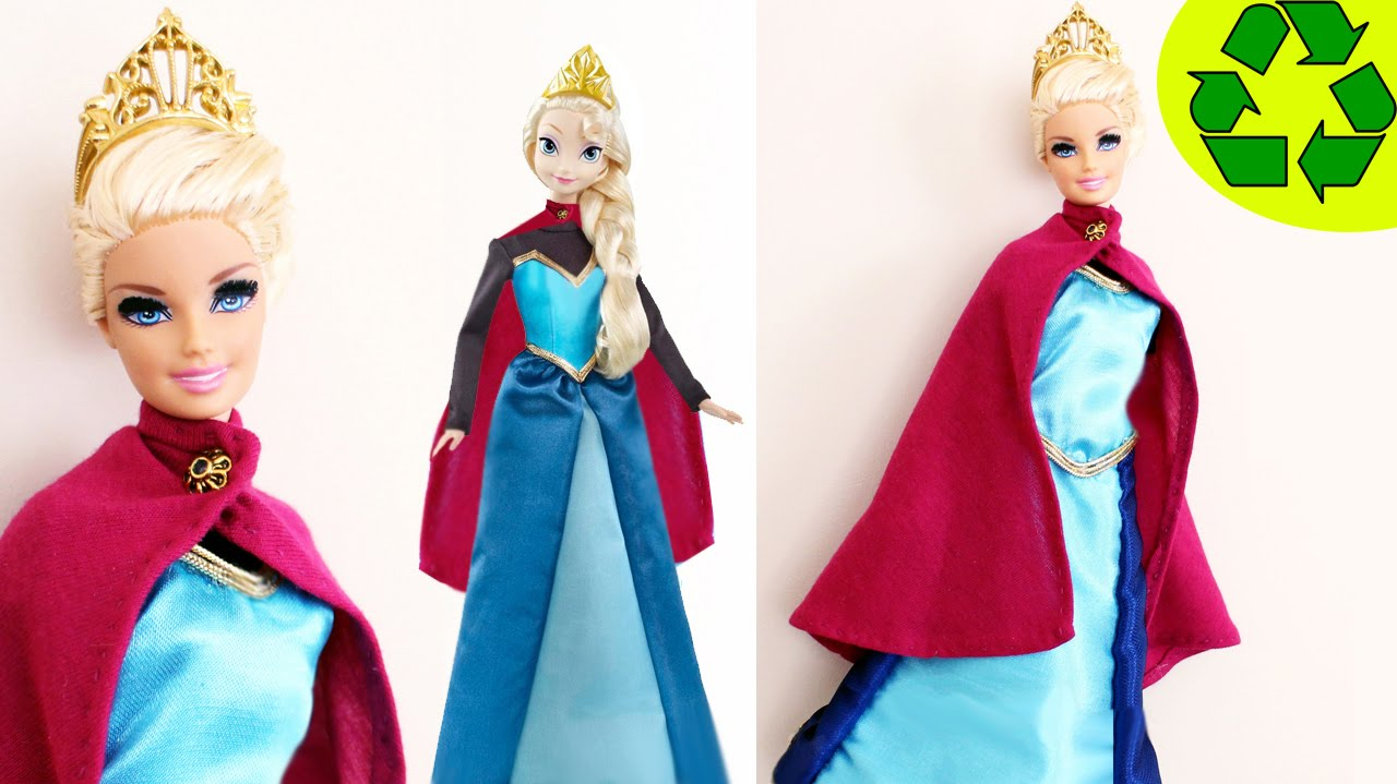 How to make a coronation dress for your Elsa or Barbie doll- Doll ...