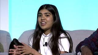 FutureX Live: Jhillika speaking at Tech for Good Panel