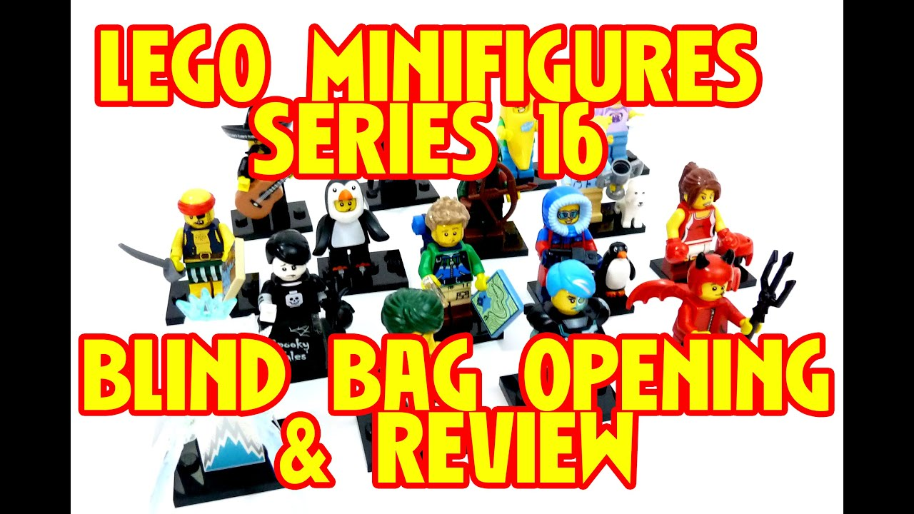 Lego Minifigures Series 16 Blind Bag Opening Review Youtube