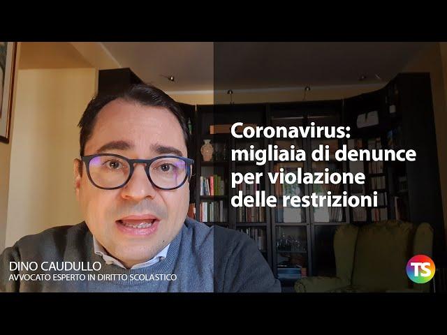Coronavirus, migliaia di denunce per violazione delle restrizioni