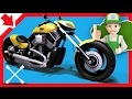 Motocicletta per bambini cartoni. cartone animato Motocicletta. Cartoni animati corse auto.