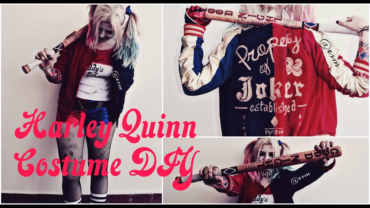 Harley quinn suicide squad costume diy youtube solutioingenieria Image collections