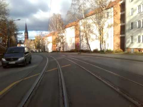 Mitfahrt Straßenbahn Frankfurt/Oder Linie 1 Lebuser Vorstadt - Neuberesinchen mit Ticketkontrolle