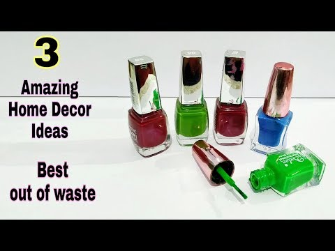 #3 Amazing Home Decor Ideas Out Of Waste Nail Polish and it's bottle