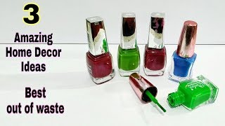 #3 Amazing Home Decor Ideas Out Of Waste Nail Polish and it