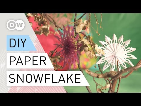 Paper snowflakes easy - Christmas tree decoration | Christmas tree paper ornaments | DIY tutorial