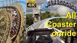 Europa Park alle Achterbahnen onride POV 4K – All Roller Coaster Europapark POV onride 4K UHD